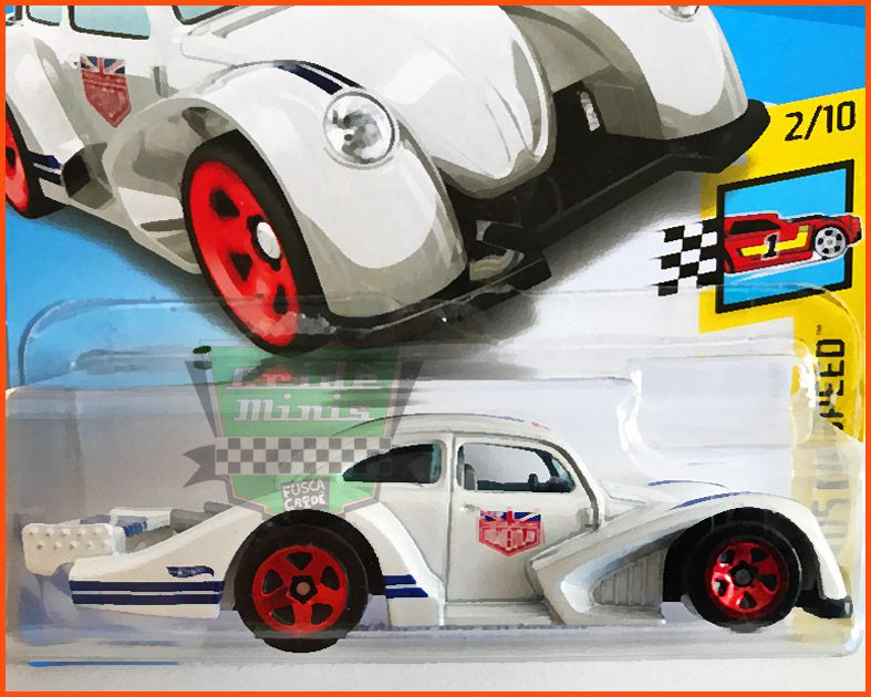Hot Weels VW Fusca Split Racer White - escala 1/64