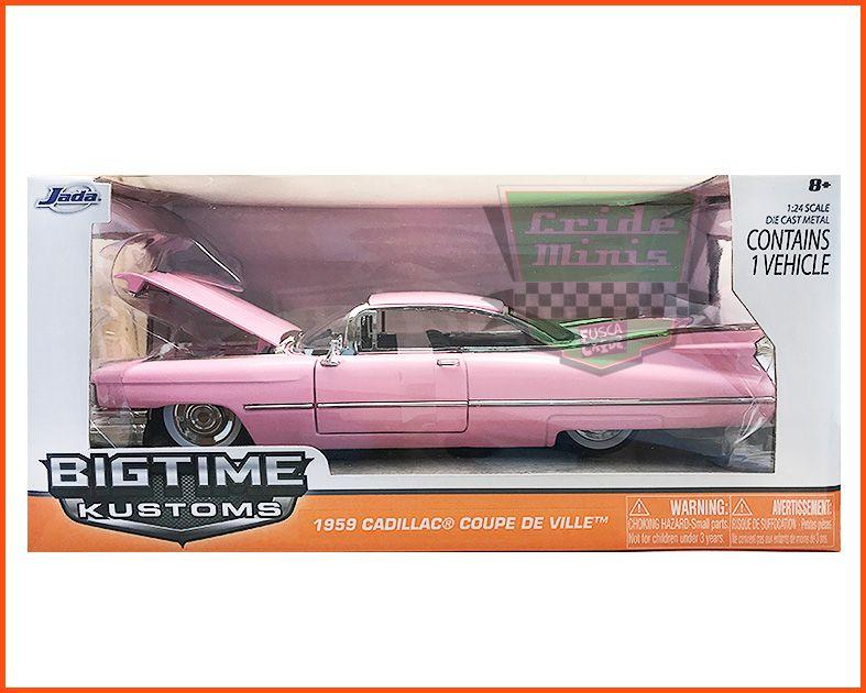 Jada Cadillac Coupe De Ville 1959 Rosa - escala 1/24