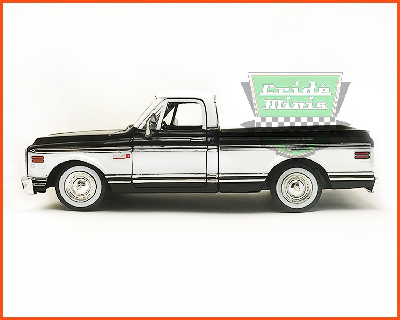 Jada Chevrolet Cheyenne Pick-up 1972 Preto - escala 1/24