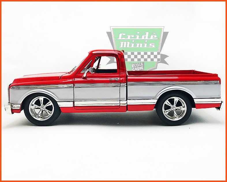 Jada Chevrolet Cheyenne Pick-up 1972 Vermelha - escala 1/24
