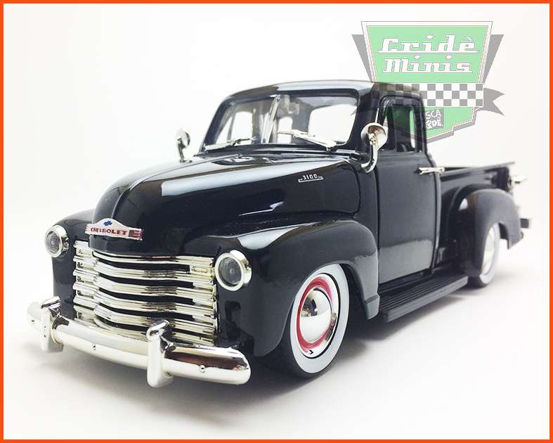 Jada Chevrolet Pick-up 3100 1953 - preta - escala 1/24