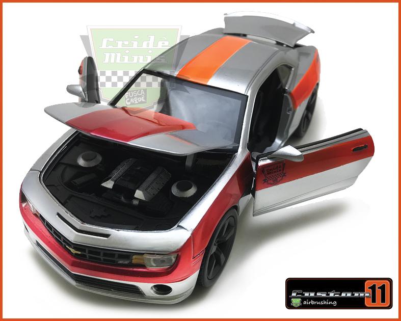 Jada Chevy Camaro Silver SS 2010 Customizado Peça única - escala 1/24