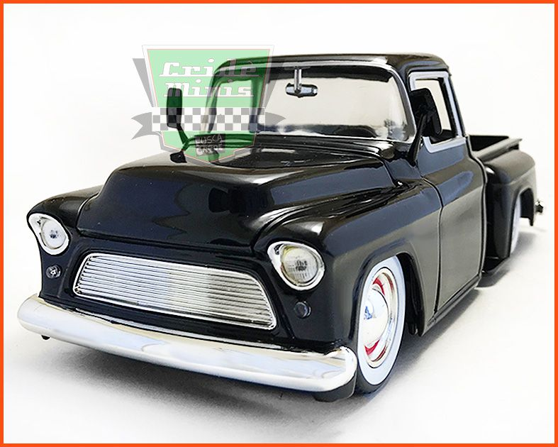 Jada Chevy Stepside Pick-up 1955 Black - escala 1/24