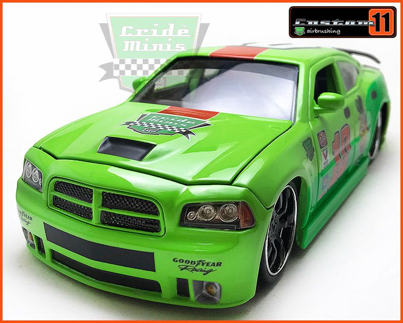 Jada Dodge Charger SRT8 2006 CUSTOMIZADO - escala 1/24