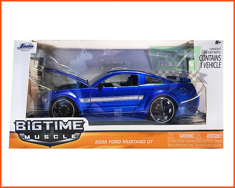 Jada Ford Mustang GT 2006 Blue Metal - escala 1/24