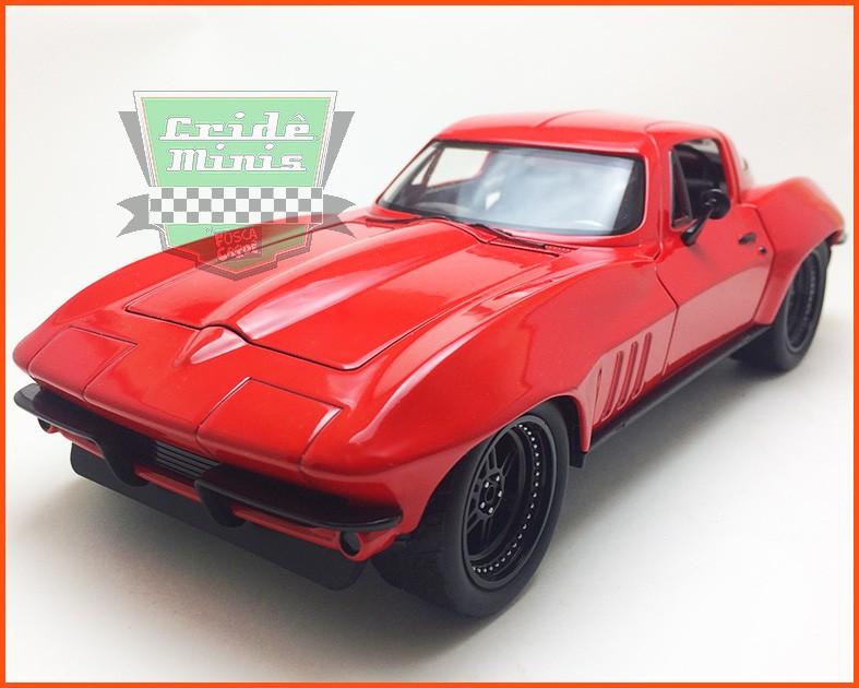 Jada Letty's Chevy Corvette 1966 - Velozes & Furiosos 8 - escala 1/24