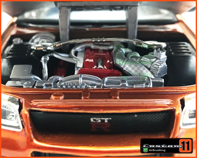 Jada Nissan Skyline GT-R 2002 - Customizado Peça única - escala 1/24