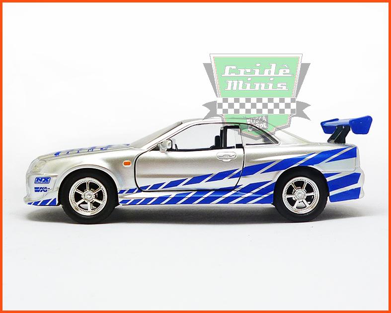Jada Nissan Skyline GT-R 2002 - Velozes e Furiosos - escala 1/32