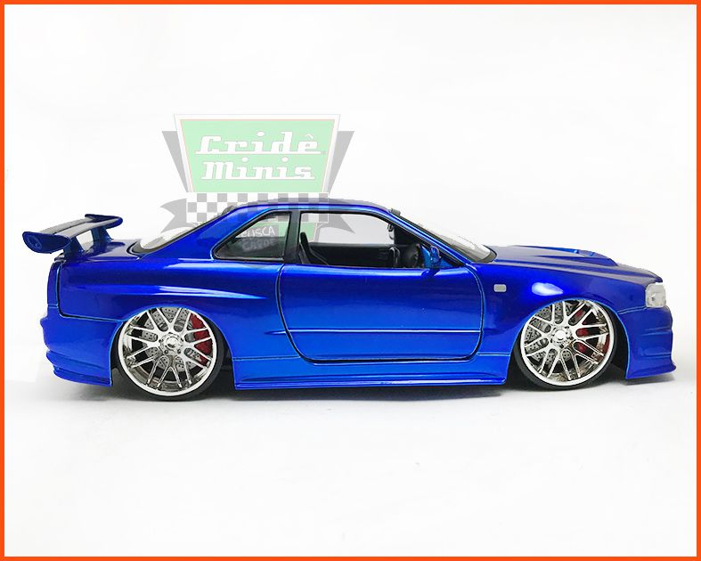 Jada Nissan Skyline GT-R  R34 2002 - Velozes e Furiosos - escala 1/24