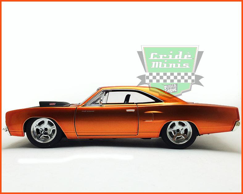 Jada Plymouth Road Runner com CAIXA - Velozes e Furiosos 7 - escala 1/24