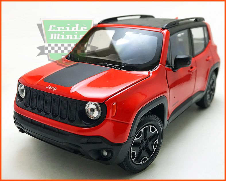 Jeep Renegade 2015 Red - escala 1/24
