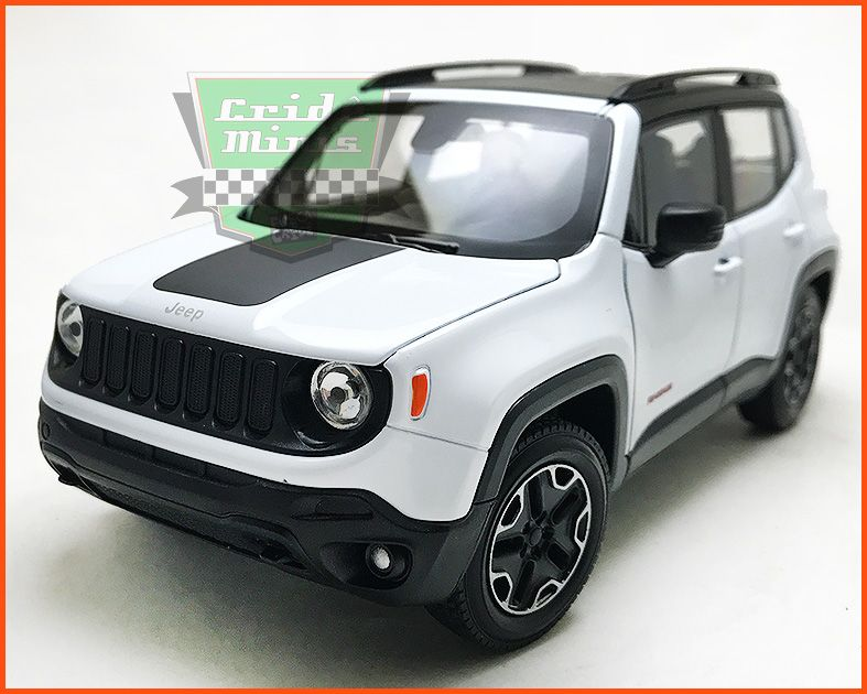Jeep Renegade 2015 White - escala 1/24