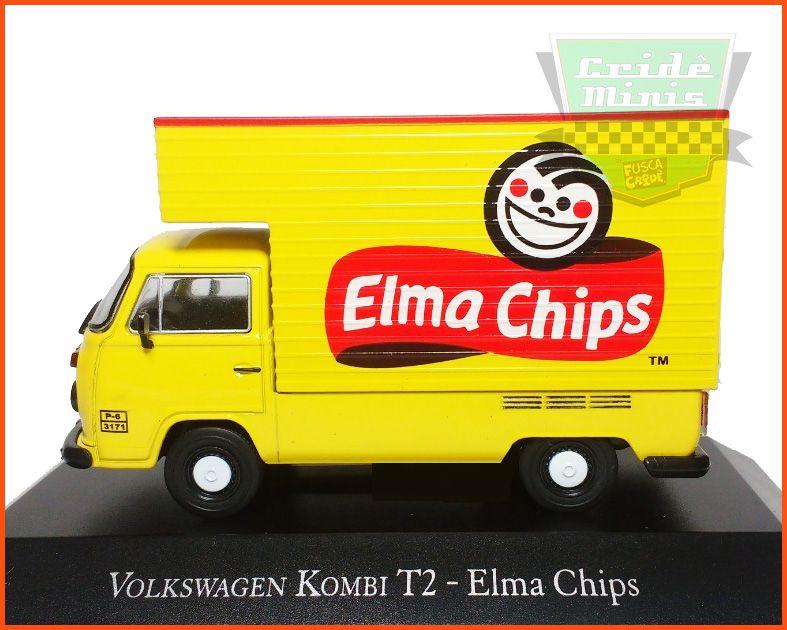 Kombi Baú Elma Chips - Carros Nacionais  escala 1/43