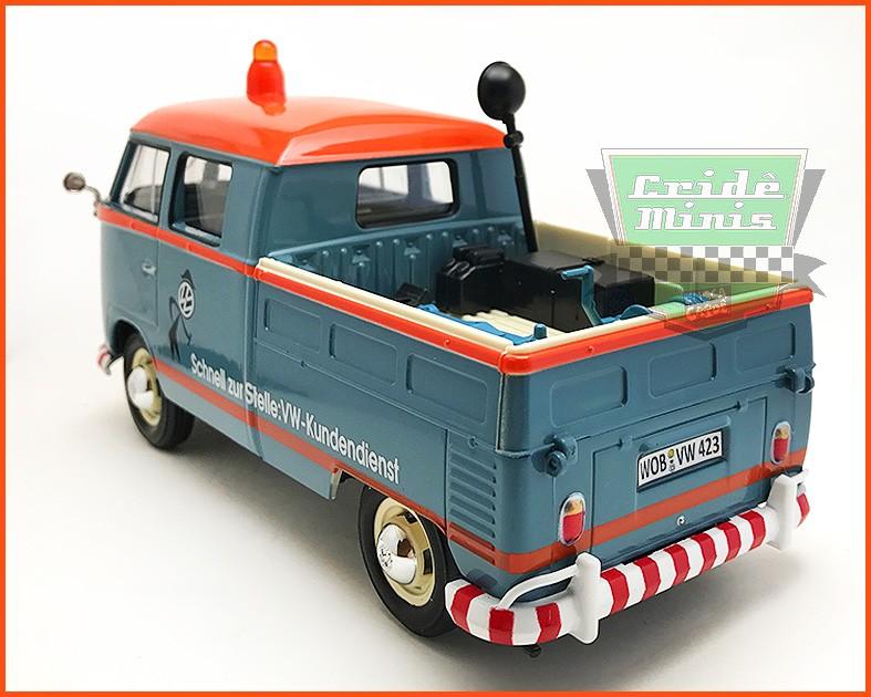Kombi Cabine Dupla Pick-up Serviço 1969 - escala 1/24