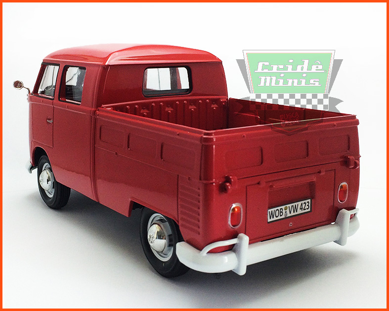 Kombi Cabine Dupla Pick-up vermelha 1969 - escala 1/24
