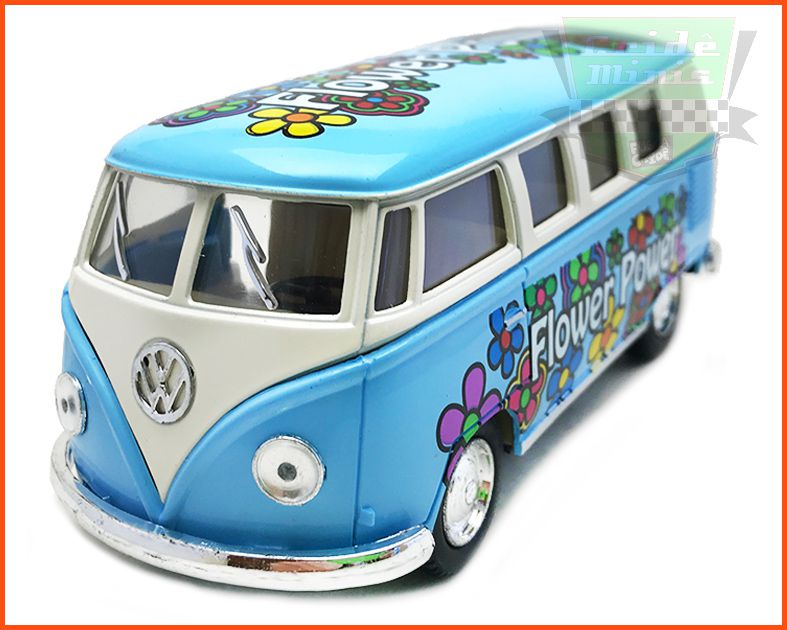 Kombi Flowers Azul- escala 1/32