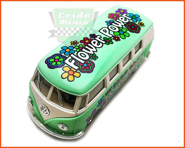 Kombi Flowers verde - Escala 1/32