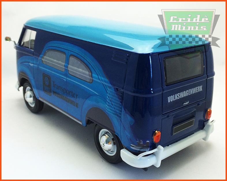 Kombi Furgão azul DIENST VW 1969 - 8 dias de produção - escala 1/24