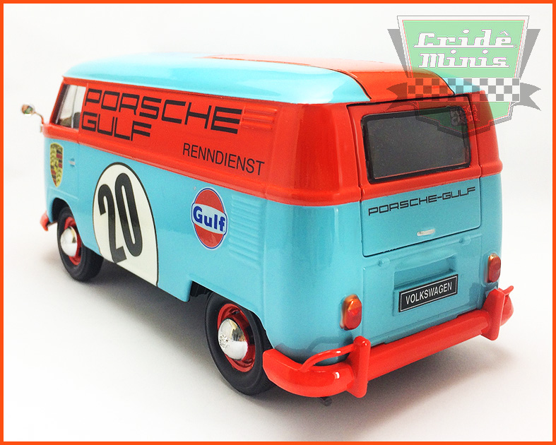 Kombi Furgão PORSCHE-GULF 1969 - 10 dias de produção - customizada 1/24