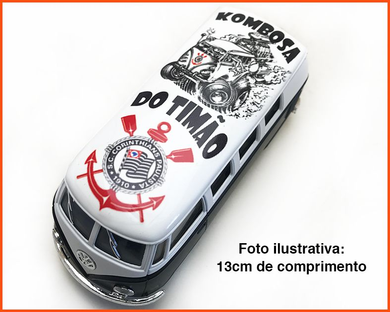 Kombi Time Corinthians artesanal - escala 1/32