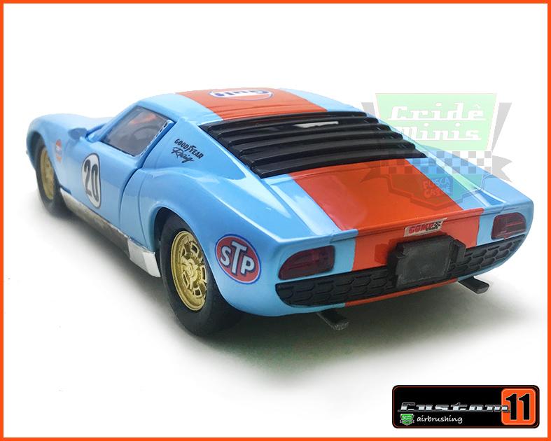 Lamborghini Miura Equipe Gulf -  Customizado Peca Única - escala 1/24