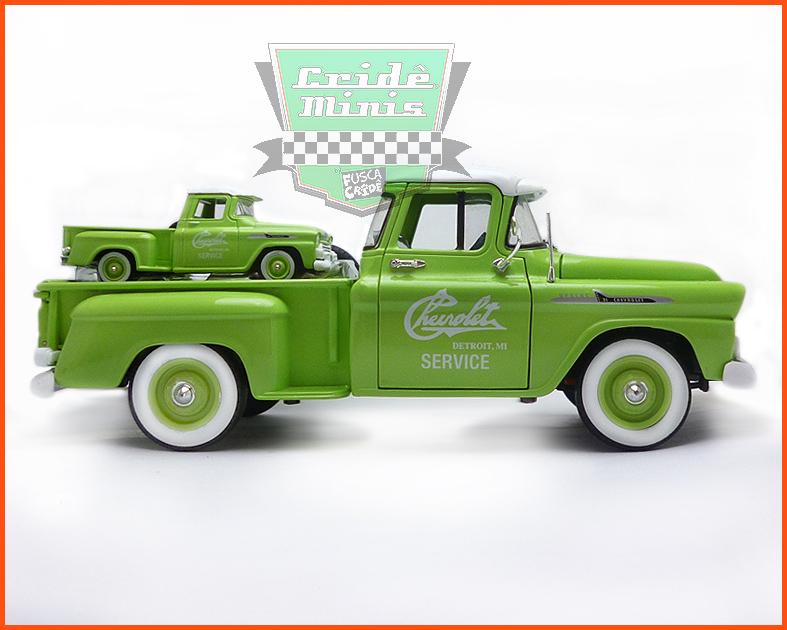 M2 Chevrolet Apache Step Side 1958 - Limitado 6.000 peças - escala 1/24