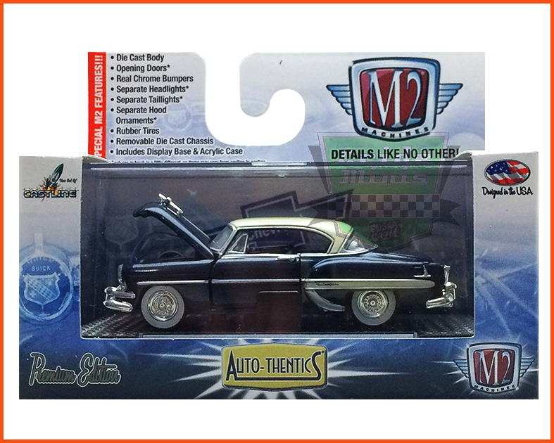 M2 Chevrolet Bel Air 1954 Edição Premium - escala 1/64