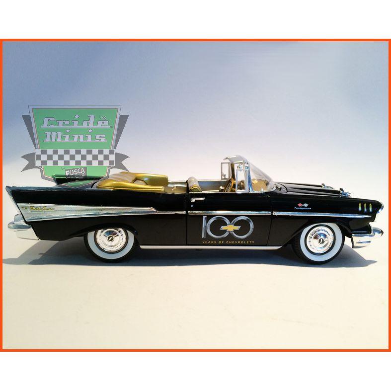 M2 Chevrolet Bel-Air Convertilbe 1957 100 Anos da Chevrolet escala 1/24