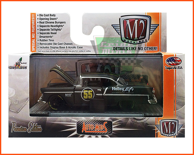 M2 Chevrolet Bel-Air Hardtop Custom 1955 - Premium Edition - escala 1/64