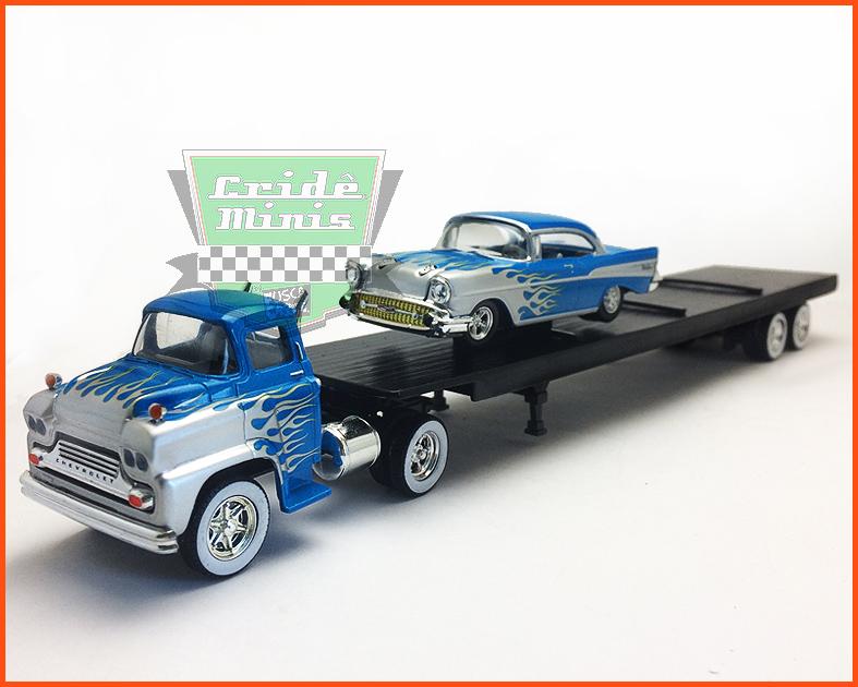 M2 Chevrolet LCF 1958 & Bel Air 1957 - escala 1/64