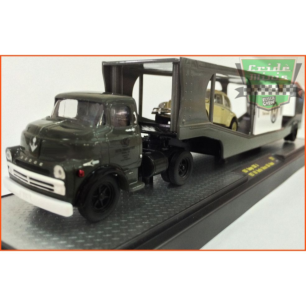 M2 Dodge COE 1957 & VW Fusca Oval Window De Luxe USA 1957 - escala 1/64