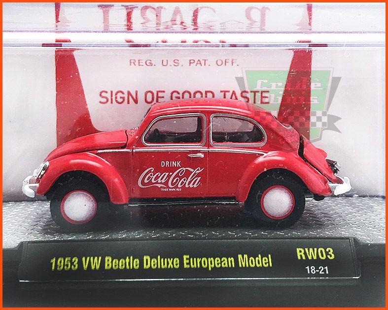 M2 Fusca Coca-Cola 1953 EDIÇÃO COLECIONADOR 9.600 unid.- escala 1/64