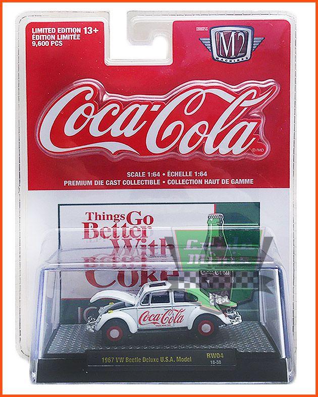 M2 Fusca Coca-Cola 1967 EDIÇÃO COLECIONADOR 9.600 unid.- escala 1/64