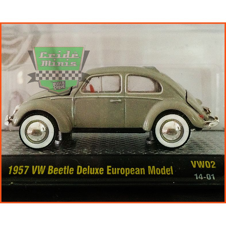 M2 Fusca - VW beetle Deluxe European Model 1957 - escala 1/64