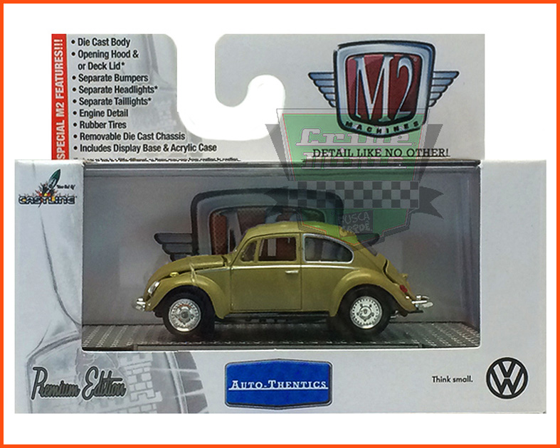 M2 VW Fusca Deluxe USA Model 1967 - escala 1/64