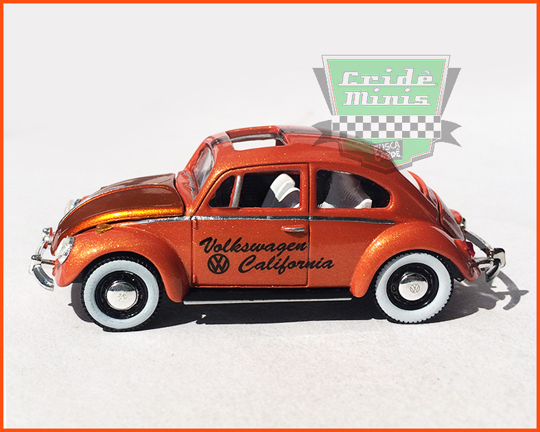 M2 VW Fusca DeLuxe 1967 - VW CALIFORNIA 10 dias de produção escala 1/64