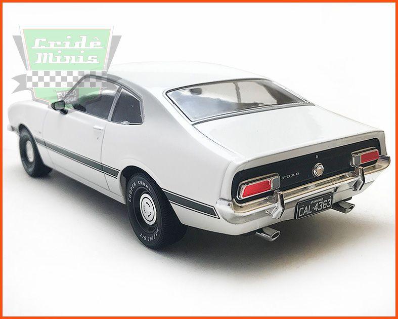Maverick GT 1974 Branco - Carros Nacionais - escala 1/24