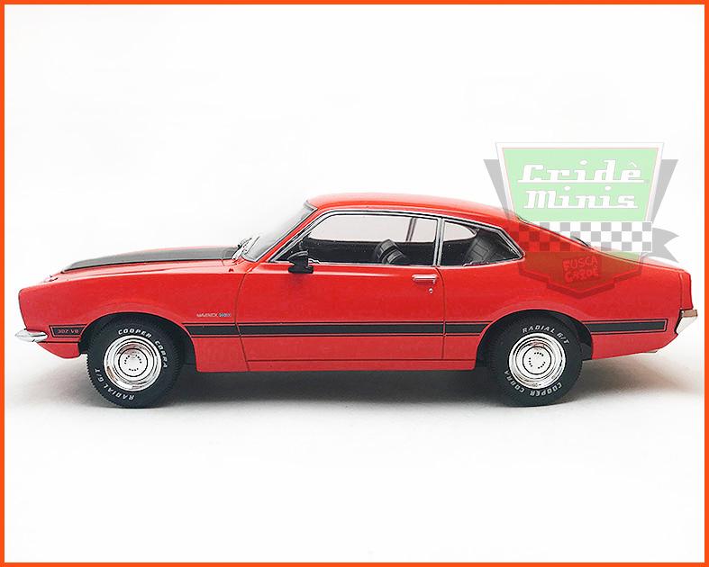 Maverick GT 1974 Vermelho - Carros Nacionais - escala 1/24
