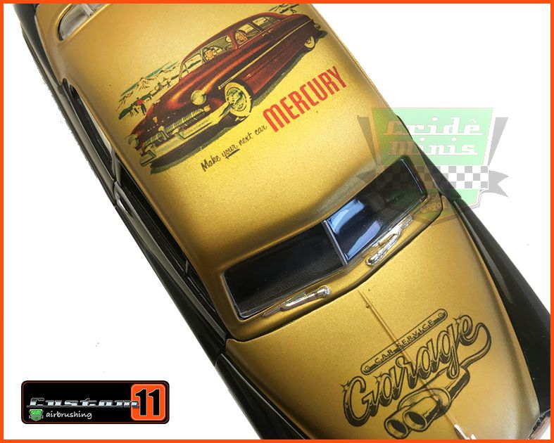 Mercury 1949 Garage Gold Customizada Peça única - escala 1/24