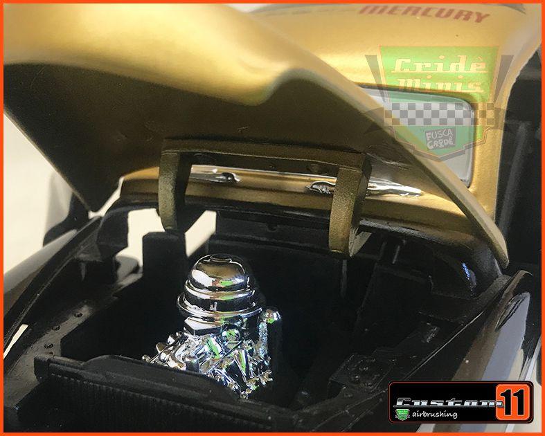 Mercury 1949 Garage Gold Customizada Peça única - escala 1/24