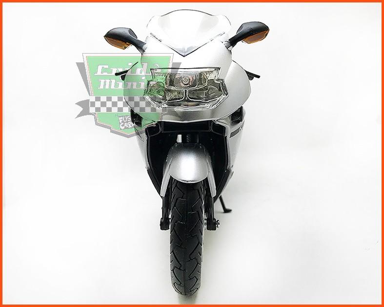 Moto BMW K 1200 S Prata - escala 1/12