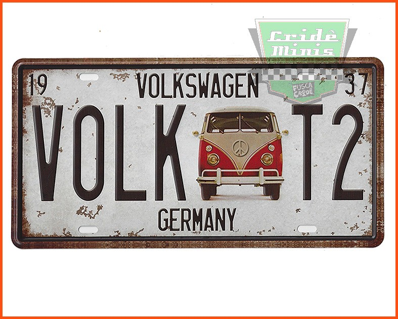 Placa decorativa Kombi - Metal