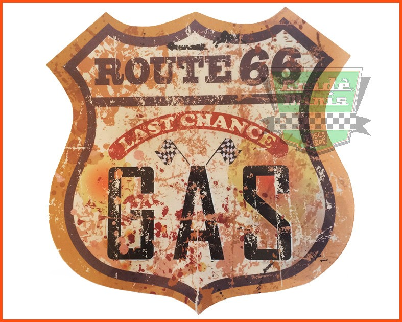 Placa decorativa Route 66 Last Change