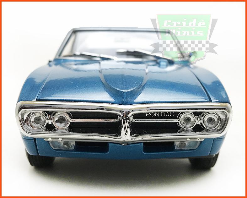 Pontiac Firebird 1967 azul - escala 1/24