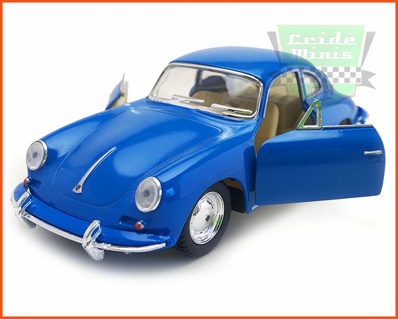 Porsche Carrera 356 Blue com caixa Customizada - escala 1/32