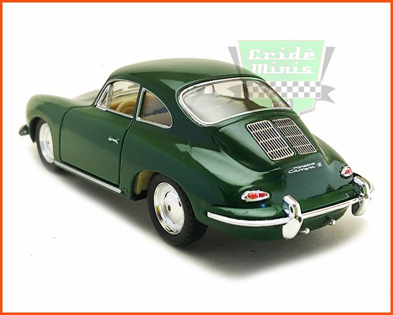 Porsche Carrera 356 Green com caixa Customizada - escala 1/32