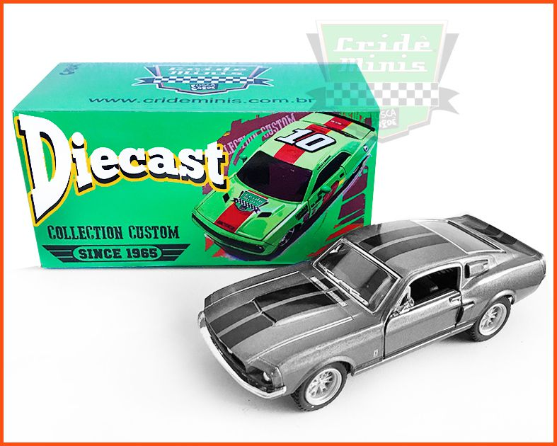 Shelby GT500 1967 com caixa Customizada - escala 1/38