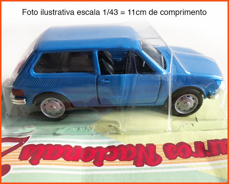 VW Brasília 1973/74 - Carros Nacionais - escala 1/43