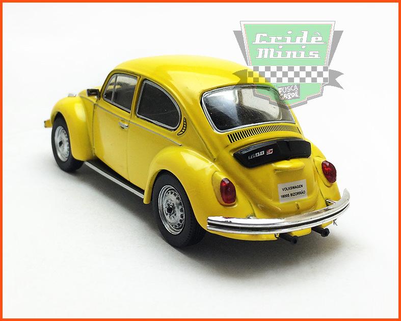VW Fusca Bizorrão 1600S 1974 - Carros Nacionais - escala 1/43