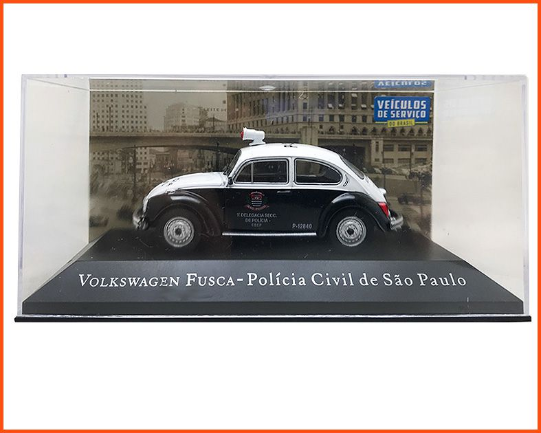 VW Fusca Poliíca Civil SP - Carros Nacionais - escala 1/43